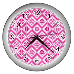 Folklore Wall Clocks (silver)  by Valentinaart