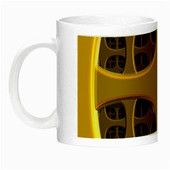 Golden Fractal Window Night Luminous Mugs by Simbadda