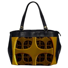 Golden Fractal Window Office Handbags by Simbadda