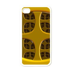 Golden Fractal Window Apple Iphone 4 Case (white) by Simbadda