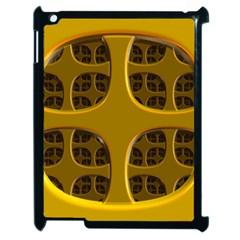 Golden Fractal Window Apple Ipad 2 Case (black) by Simbadda
