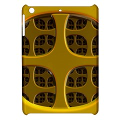 Golden Fractal Window Apple Ipad Mini Hardshell Case by Simbadda