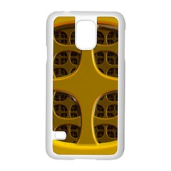 Golden Fractal Window Samsung Galaxy S5 Case (white)
