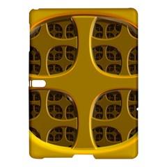 Golden Fractal Window Samsung Galaxy Tab S (10 5 ) Hardshell Case  by Simbadda
