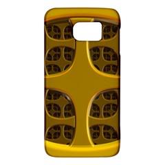 Golden Fractal Window Galaxy S6 by Simbadda