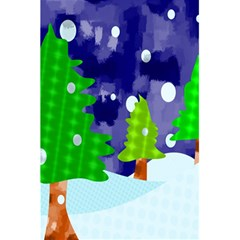 Christmas Trees And Snowy Landscape 5 5  X 8 5  Notebooks by Simbadda