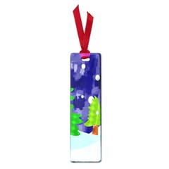 Christmas Trees And Snowy Landscape Small Book Marks by Simbadda