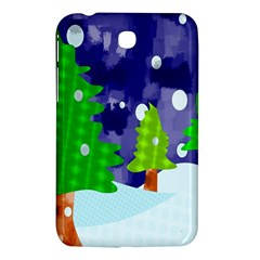 Christmas Trees And Snowy Landscape Samsung Galaxy Tab 3 (7 ) P3200 Hardshell Case  by Simbadda