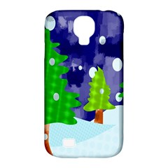 Christmas Trees And Snowy Landscape Samsung Galaxy S4 Classic Hardshell Case (pc+silicone) by Simbadda