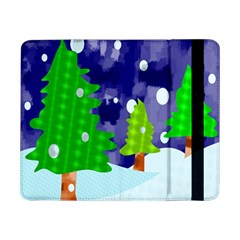 Christmas Trees And Snowy Landscape Samsung Galaxy Tab Pro 8 4  Flip Case by Simbadda