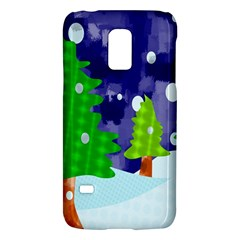 Christmas Trees And Snowy Landscape Galaxy S5 Mini by Simbadda