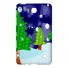 Christmas Trees And Snowy Landscape Samsung Galaxy Tab 4 (8 ) Hardshell Case  by Simbadda