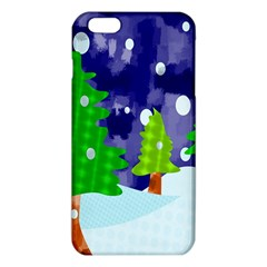Christmas Trees And Snowy Landscape Iphone 6 Plus/6s Plus Tpu Case by Simbadda