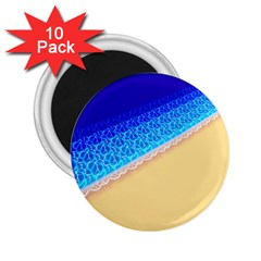 Beach Sea Water Waves Sand 2 25  Magnets (10 Pack)  by Alisyart