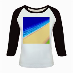 Beach Sea Water Waves Sand Kids Baseball Jerseys by Alisyart