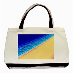 Beach Sea Water Waves Sand Basic Tote Bag (two Sides) by Alisyart