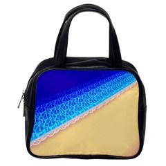 Beach Sea Water Waves Sand Classic Handbags (one Side) by Alisyart