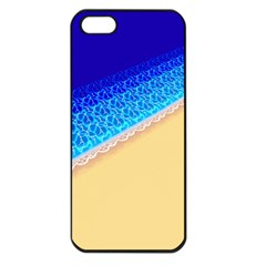 Beach Sea Water Waves Sand Apple Iphone 5 Seamless Case (black) by Alisyart