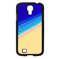 Beach Sea Water Waves Sand Samsung Galaxy S4 I9500/ I9505 Case (black) by Alisyart