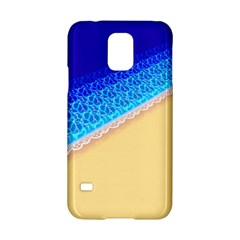 Beach Sea Water Waves Sand Samsung Galaxy S5 Hardshell Case  by Alisyart