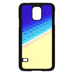 Beach Sea Water Waves Sand Samsung Galaxy S5 Case (black) by Alisyart
