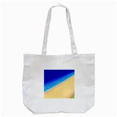 Beach Sea Water Waves Sand Tote Bag (white) by Alisyart