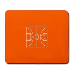 Basketball Court Orange Sport Orange Line Large Mousepads by Alisyart