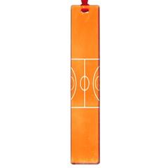 Basketball Court Orange Sport Orange Line Large Book Marks by Alisyart