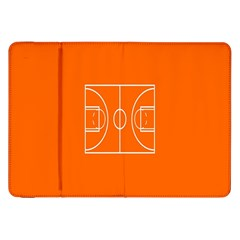 Basketball Court Orange Sport Orange Line Samsung Galaxy Tab 8 9  P7300 Flip Case by Alisyart