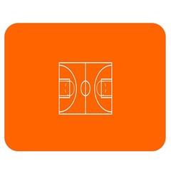 Basketball Court Orange Sport Orange Line Double Sided Flano Blanket (medium)  by Alisyart