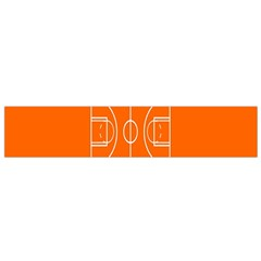 Basketball Court Orange Sport Orange Line Flano Scarf (small) by Alisyart