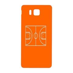 Basketball Court Orange Sport Orange Line Samsung Galaxy Alpha Hardshell Back Case by Alisyart