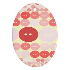 Buttons Pink Red Circle Scrapboo Ornament (oval) by Alisyart