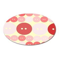 Buttons Pink Red Circle Scrapboo Oval Magnet by Alisyart