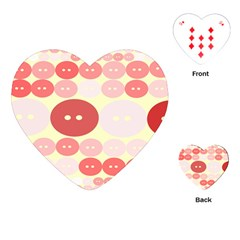 Buttons Pink Red Circle Scrapboo Playing Cards (heart)  by Alisyart