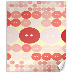 Buttons Pink Red Circle Scrapboo Canvas 20  X 24   by Alisyart