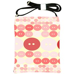 Buttons Pink Red Circle Scrapboo Shoulder Sling Bags by Alisyart