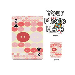Buttons Pink Red Circle Scrapboo Playing Cards 54 (mini)  by Alisyart