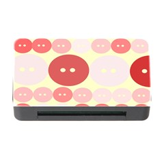 Buttons Pink Red Circle Scrapboo Memory Card Reader With Cf by Alisyart