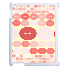Buttons Pink Red Circle Scrapboo Apple Ipad 2 Case (white) by Alisyart