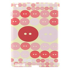 Buttons Pink Red Circle Scrapboo Apple Ipad 3/4 Hardshell Case (compatible With Smart Cover) by Alisyart