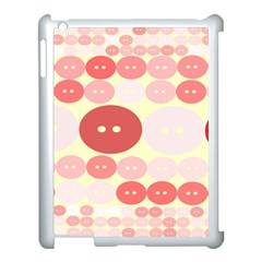 Buttons Pink Red Circle Scrapboo Apple Ipad 3/4 Case (white) by Alisyart