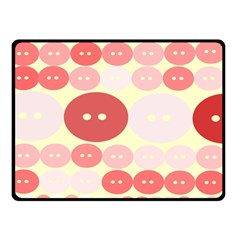 Buttons Pink Red Circle Scrapboo Double Sided Fleece Blanket (small)  by Alisyart