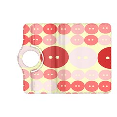Buttons Pink Red Circle Scrapboo Kindle Fire Hd (2013) Flip 360 Case by Alisyart