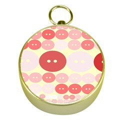 Buttons Pink Red Circle Scrapboo Gold Compasses by Alisyart