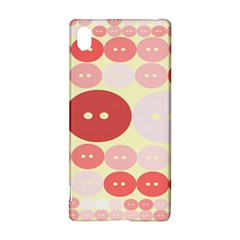 Buttons Pink Red Circle Scrapboo Sony Xperia Z3+ by Alisyart