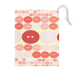 Buttons Pink Red Circle Scrapboo Drawstring Pouches (extra Large) by Alisyart