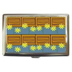 Yellow Flower Floral Sunflower Cigarette Money Cases by Alisyart