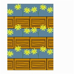 Yellow Flower Floral Sunflower Small Garden Flag (two Sides) by Alisyart