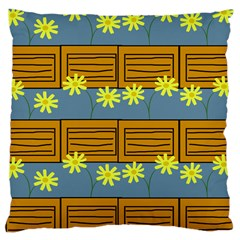 Yellow Flower Floral Sunflower Large Cushion Case (one Side) by Alisyart